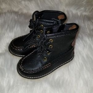 GAP kids faux leather hiker boots